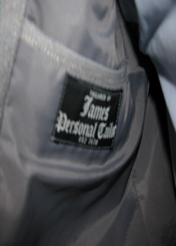 1970's, 1980's era, James Personal Tailor label