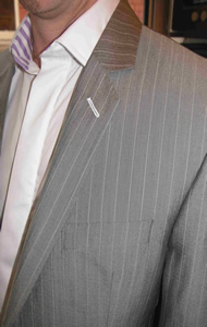 Contemporary Bespoke Suit Detail