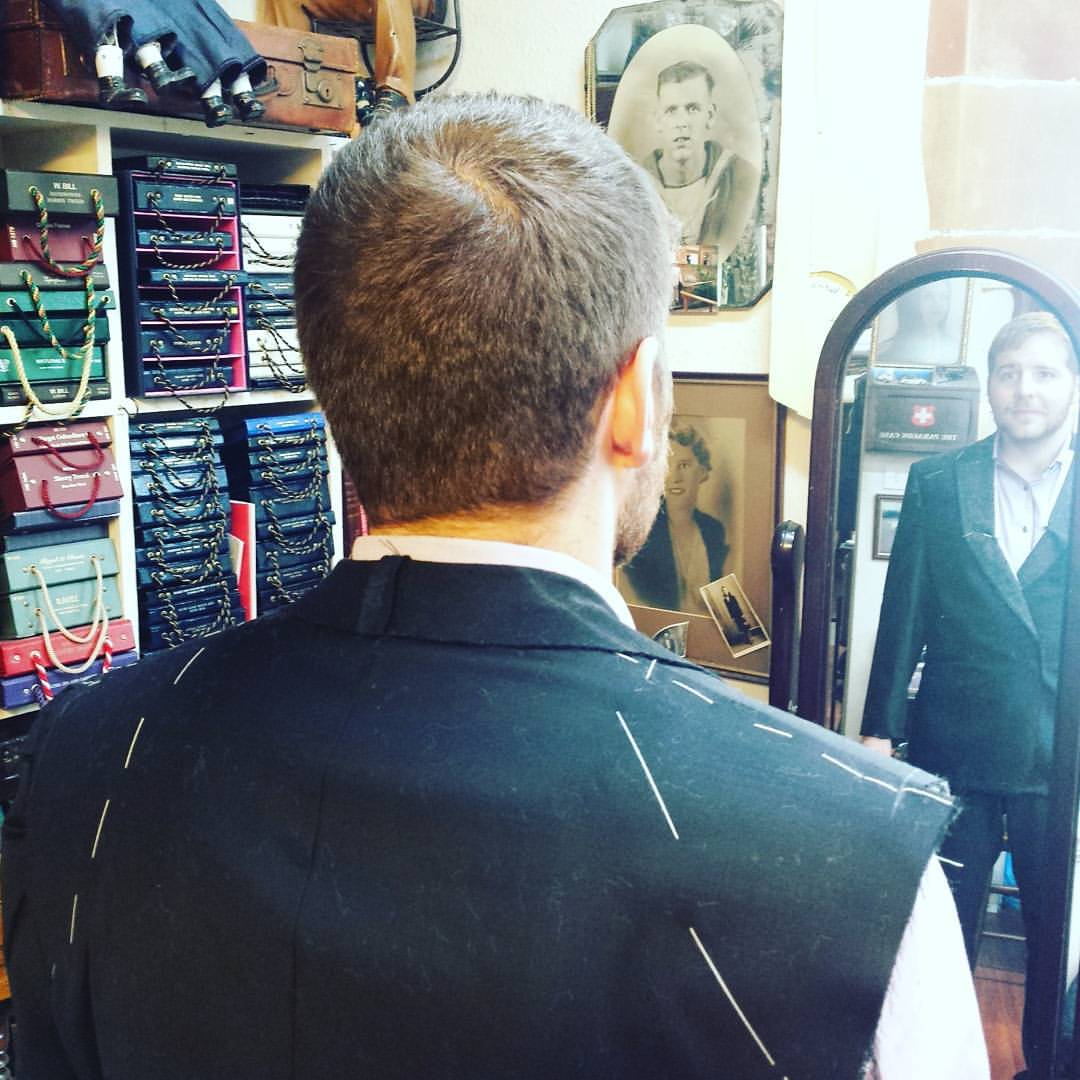 bespoke suit fitting stage picture