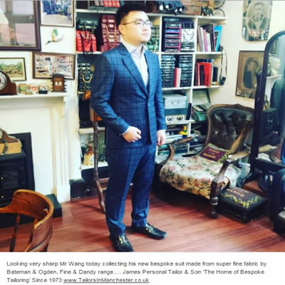 Mr Weng in bespoke 3 piece suit