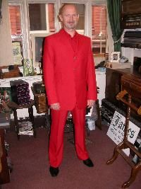 Red Bespoke Wedding Suit and Shirt